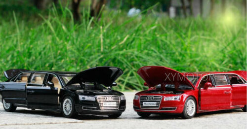 1//32 AUDI A8L Extended Light Sound Pull Back Diecast Model Toys Car Kids Gifts