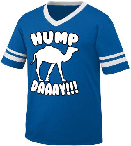 Wednesday Camel Day Work Week Halfway Happy Men/'s V-Neck Ringer Tee Hump Daaay