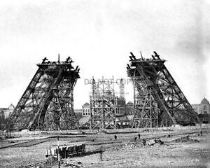 EIFFEL-TOWER-IN-PARIS-UNDER-CONSTRUCTION-CIRCA-1889-8X10-PHOTO-CC648