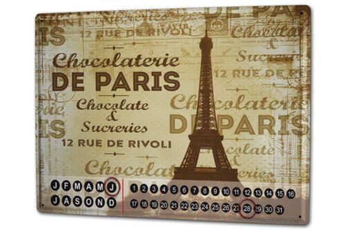 Dauer Wand Kalender Reisen Küche Paris Metall Magnet