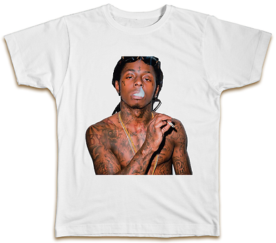 trukfit t-shirt mens rap poster hip hop Weezy LIL WAYNE T-Shirt poster
