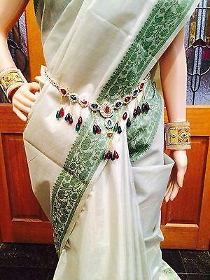 Hip Chain Bollywood  Belly Dance Waist Belt Indian Green Maroon Kamar Bandh A15