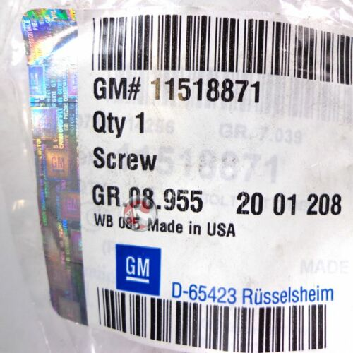 VAUXHALL SCREW GENUINE NEW 11518871