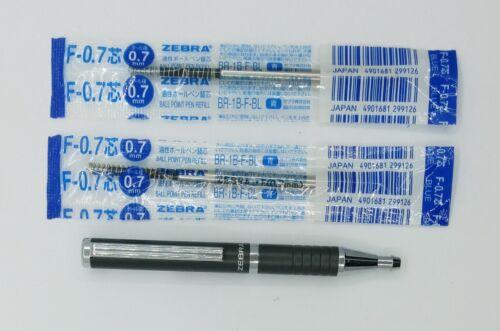 2 BLUE REFILL ZEBRA SL-F1  ball point pen 0.7MM BLUE INK C 1PEN Gray silver