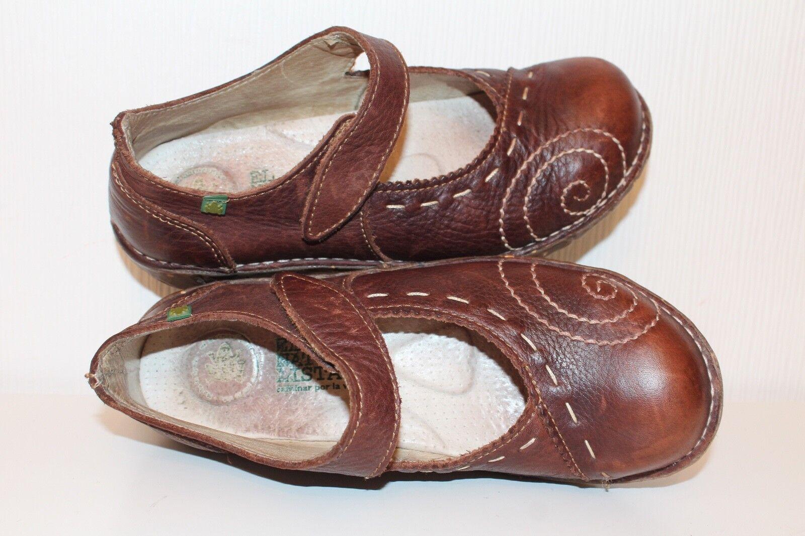 EL NATURALISTA Damen Schuhe ECHT LEDER 37 COGNAC RIEMCHENBALLERINA Lagenlook Lagenlook Lagenlook UK4 1799de
