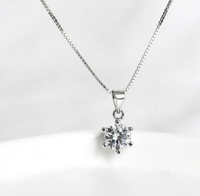 925 Sterling Silver Cubic Zirconia Pendant and Chain