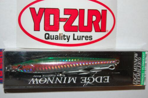 """yo zuri edge minnow trembler sink 4 1//8/"""" 13//16oz r985-shnm rainbow trout flash"""