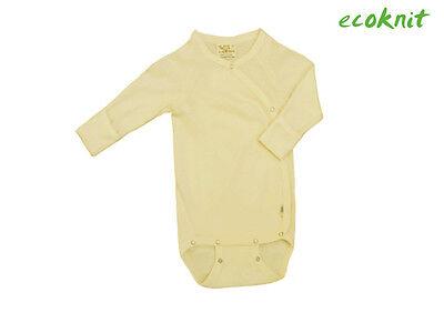 IOBIO Bodysuit MERINO WOOL SILK newborn baby scratch organic body romper kimono