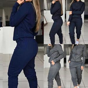 Women-2pcs-Tracksuit-Hoodies-Sweats-Sweatshirt-Pants-Sets-Sport-Wear-Casual-Suit
