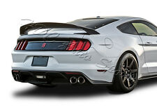 For Ford Mustang GT350 GT350R Style Painted Black ABS Rear Trunk Spoiler Wing