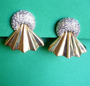 747 / Valentino / Boucles D'oreille Clips Plaque Or Et Pavage De Strass Uswdx2ox-10121209-638565023