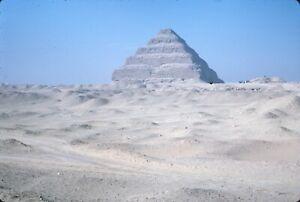 Djoser The Oldest Pyramid in Cairo Egypt 1965 60s Vintage Kodachrome Slide
