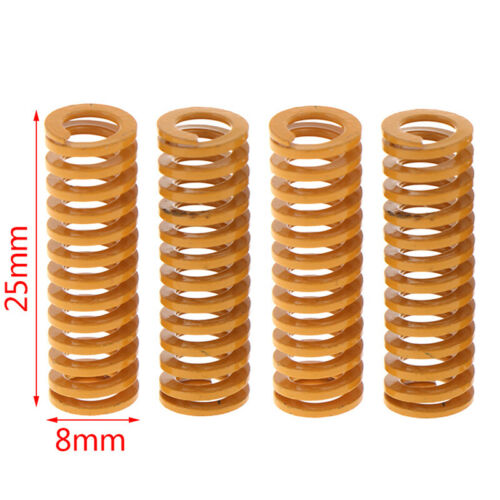 4pcs 3D Printer Parts Spring For Heated bed hotbed 25*8mm*4JB
