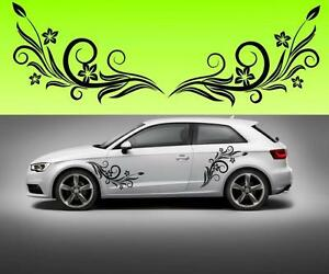 2x-flowers-swirl-car-vinyl-f5-STICKER-DECAL-VAN-CAR-COLOUR-DUB-JDM
