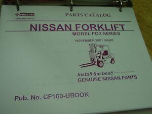 Details about NISSAN Model FO3 Series OEM Forklift Parts Catalog 2001 LQQK!