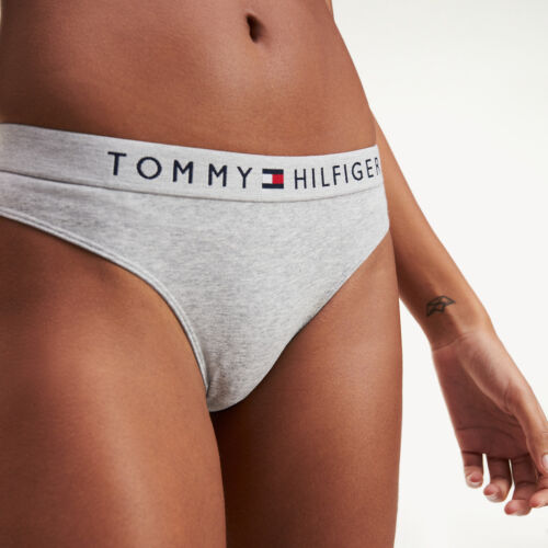 Details about  /Tommy Hilfiger Stretch Cotton Womens Underwear Thong Grey Heather All Sizes