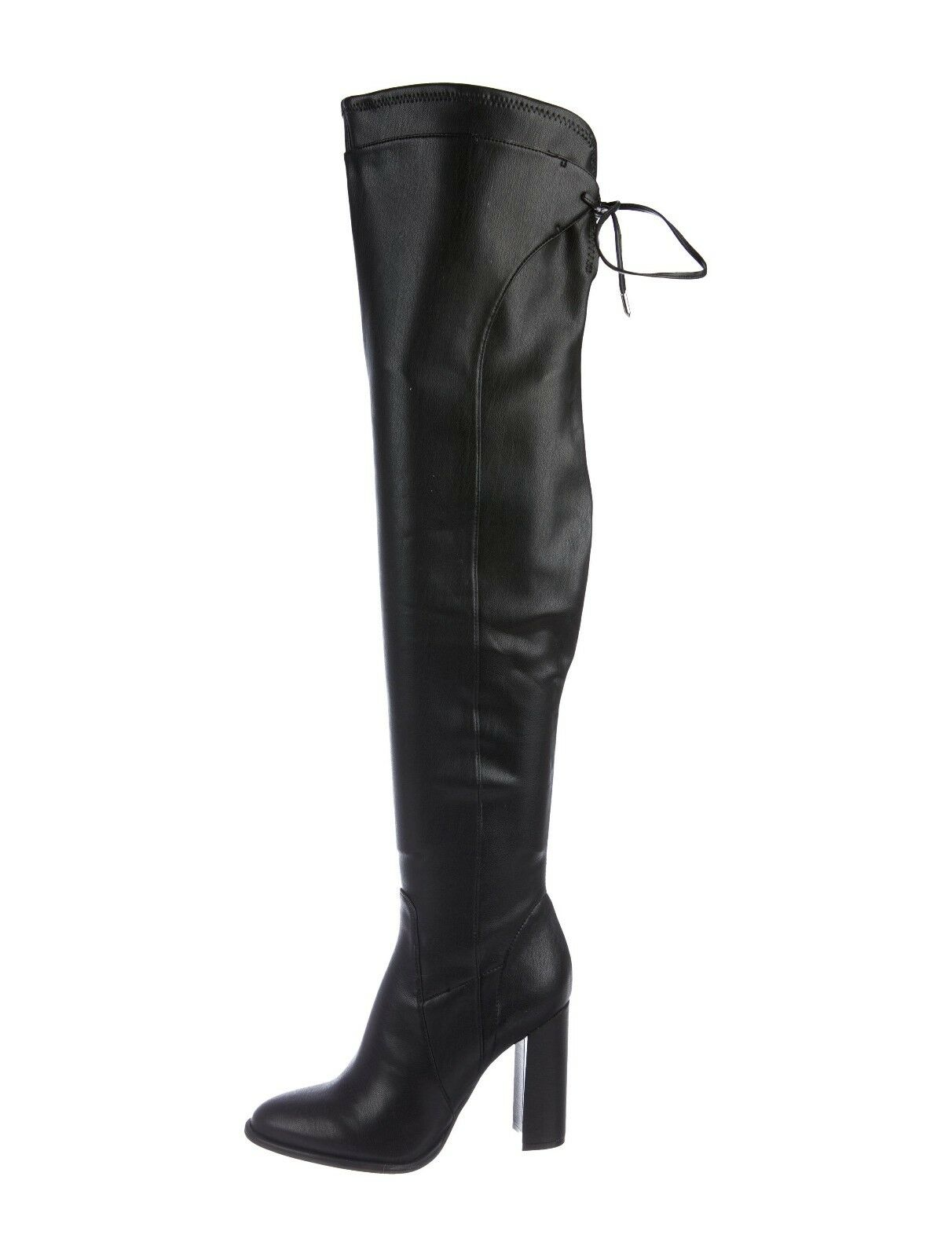 7.5  Marc Fisher Boots over-The-Knee over-The-Knee over-The-Knee Boots Black Leather thigh high Boots 201524