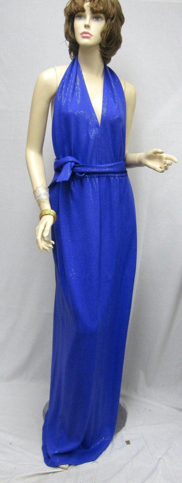 St John EVENING  Iris Purple Pialettes DRESS SZ 8 NWT