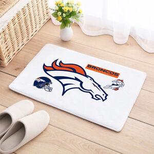 Details About Denver Broncos Door Carpet Mat Natural Cotton Floor Anti Slip Nfl Decor