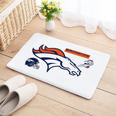 Denver Broncos Door Carpet Mat Natural