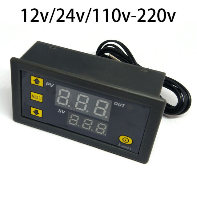 110V 220V 12V Digital LCD Thermostat Regulator Temperature Controller thermomete