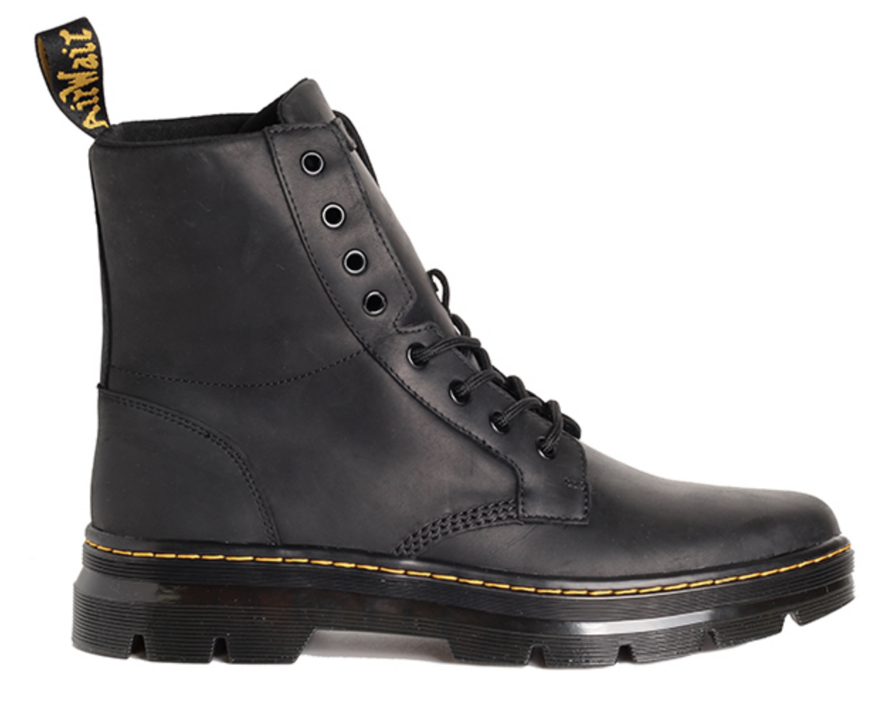 Dr Martens Mens Combs Leather Black Wyoming Boots