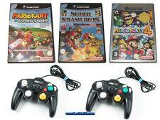 # Mario Kart + PARTY 4 + SMASH BROS. Melee & 2 Control Pad Nintendo Gamecube #