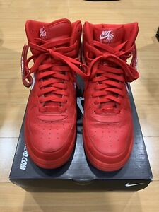 la moitié 71178 0e4ac Details about Nike Air Force 1 High ID Banned All Red Custom