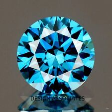 BLUE DIAMOND 5.00 MM ROUND ALL NATURAL OUTSTANDING STONE