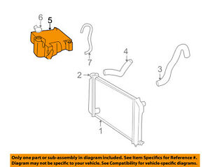 image is loading gm-oem-radiator-coolant-overflow-tank-reservoir-recovery-