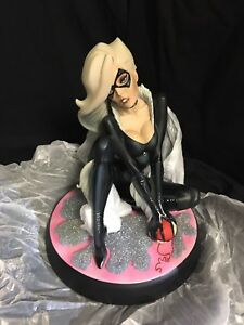 SIDESHOW-BLACK-CAT-STATUE-J-Scott-Campbell-Collection-SPIDER-MAN-NEW-IN-BOX