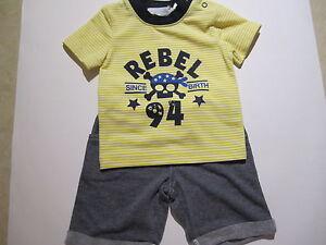 KA-BOOSH BABY BOYS SHORTS & T SHIRT OUTFIT  SIZE 000 KABOOSH
