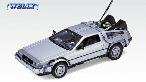 Back To The Future I 1 - Delorean De Lorean 1:24 Die-Cast Metal Model WELLY