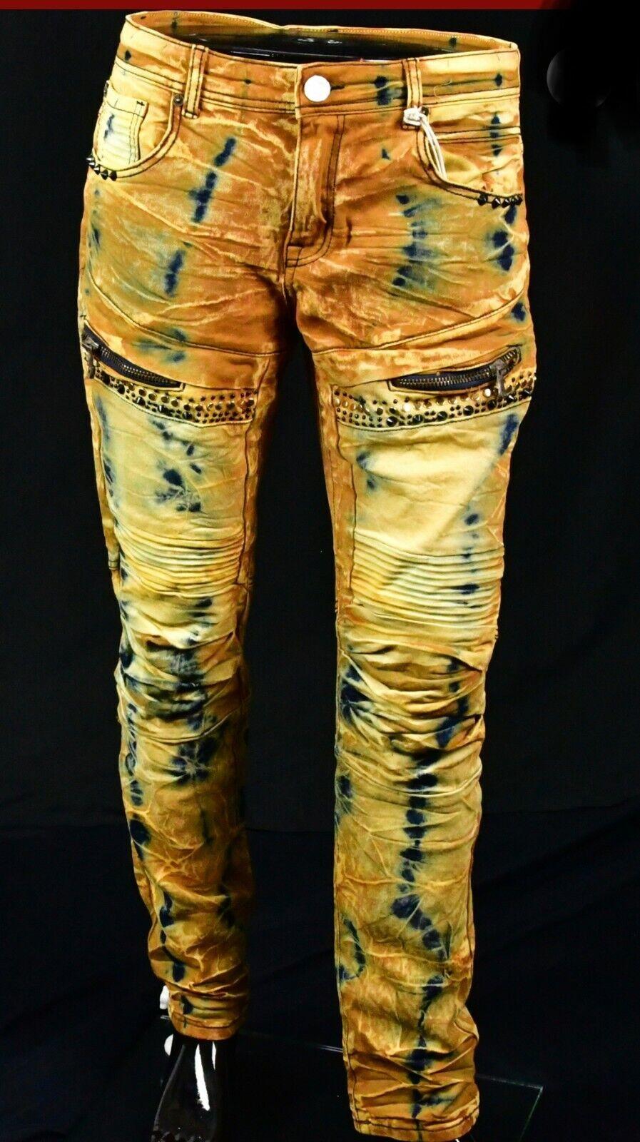8IGHTH DSTRKT Wax Black Ribbed Biker Jeans