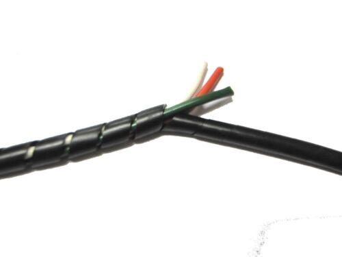 Hellerman encuadernación en espiral Cable Tidy Negro//Tubos//Cables de cableado 10.0-100MM X 5m