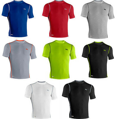 NEW MENS UNDER ARMOUR HEAT GEAR SONIC BASE LAYER FITTED SHORT SLEEVE T-SHIRT TOP