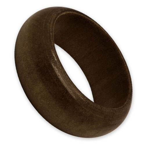 1 Holz-Ring beige dunkelbraun organisch Natur naturell hölzern