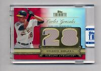 Carlos Gonzalez 2012 Topps Tribute Red Debut Digits Dual Jersey Card #10/10