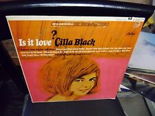 Cilla Black Is It Love LP Capitol Records VG+