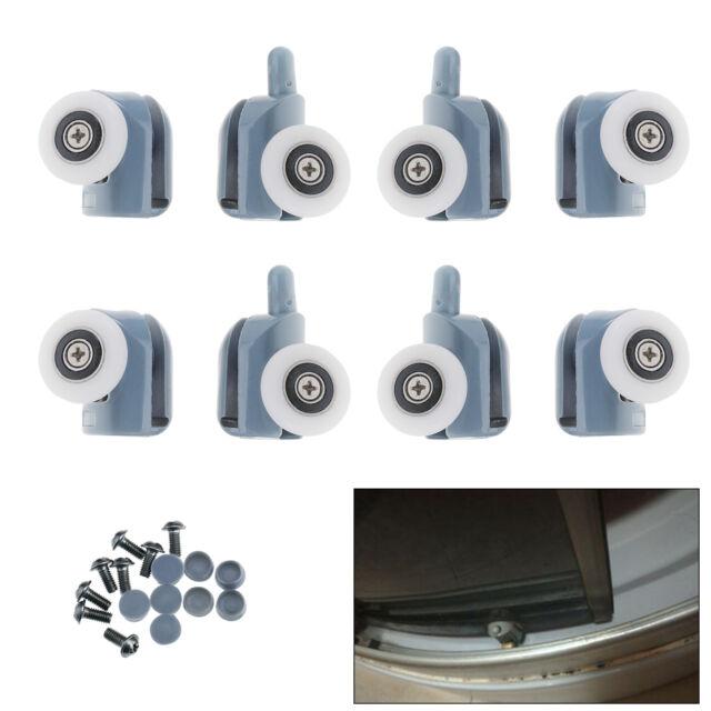 8x Single Shower Door Pulleys Rollers//Runners//Wheels Top/&Bottom Bathroom 25mm