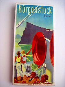 beautiful 1930 39 s switzerland travel brochure w art deco. Black Bedroom Furniture Sets. Home Design Ideas