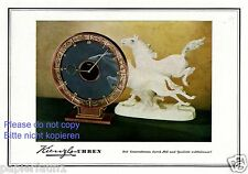 Kienzle Uhren Reklame von 1943 Pferde Schimmel Werbung ad Uhr clock