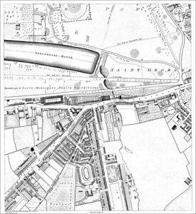 Knightsbridge London Map.Knightsbridge Brompton London Old Map Repro 1813 3 1 Ebay