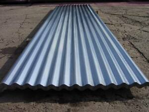 Galv Corrugated Iron Roofing Sheets 8ft 2 4m Ideal For Scaffolding Hoarding Ebay