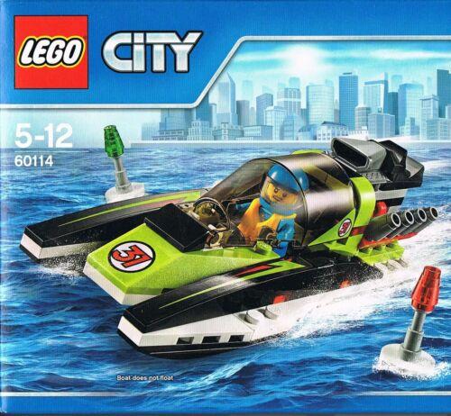 Lego City 60114 Rennboot Wellen Meer Sieger Speed Motoren Minifigur Neu und OVP