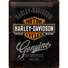 Nostalgic-Art 23244 Harley-Davidson Blechschild 30x40 cm Logo Blue