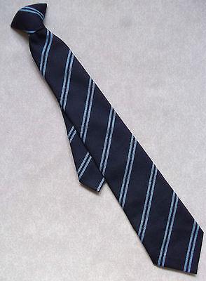Cravatta Vintage Con Cravatta Da Uomo Ragazzi Scuola College Club Blu Marino A Righe-mostra Il Titolo Originale