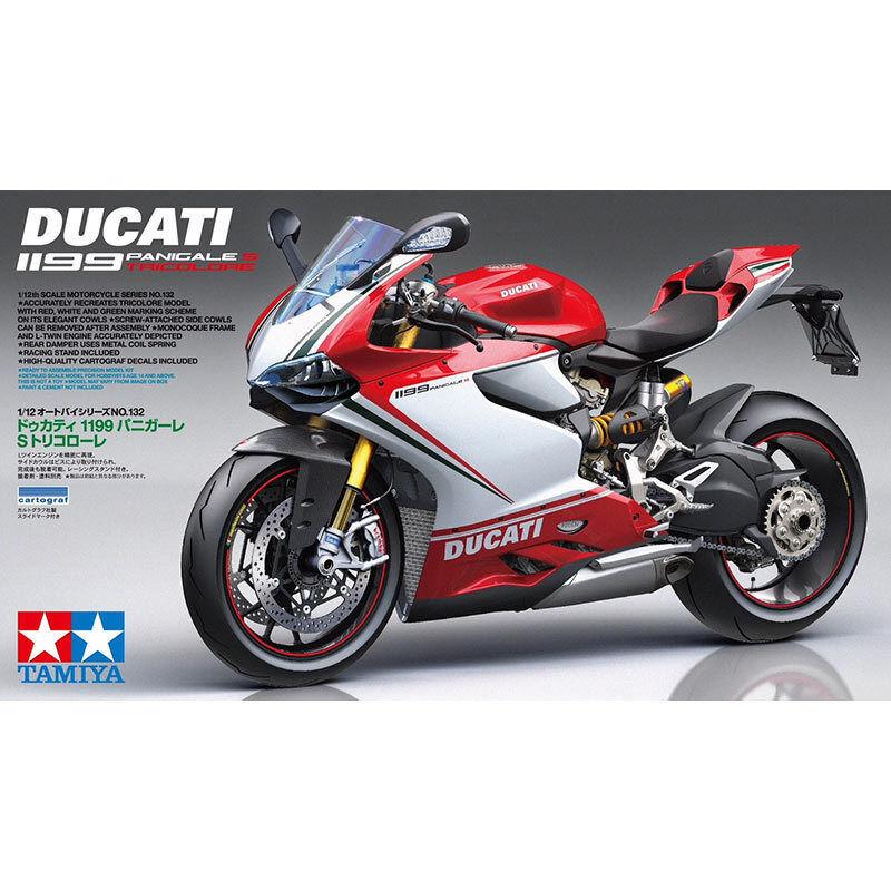 Tamiya 1 12 Ducati 1199 Panigale S Tricolor Motocycle Model Kit