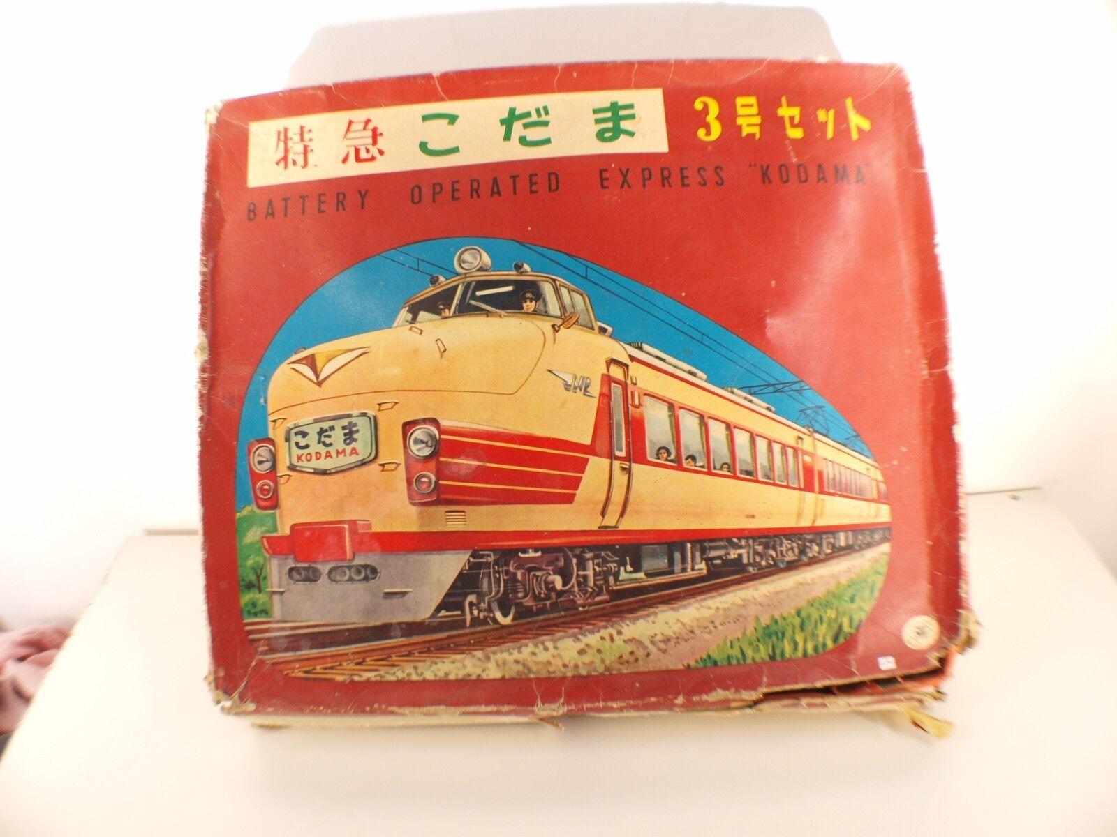 Masudaya Juguetes Japón N º 3230 Caja Express Kodama Batería Tren TinJuguete Raro