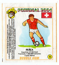 Portugese Gorila gum Wax Wrapper Euro 2004 - Team Colours & Flag- #9 Switzerland